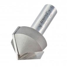 Chamfer V groove cutter 45 degrees - shank 1/2