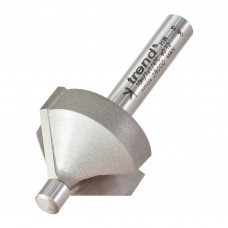 Pin guided chamfer bevel cutter 45 degrees - shank 1/4