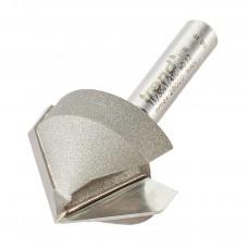 Chamfer V groove cutter 45 degrees - shank 1/4