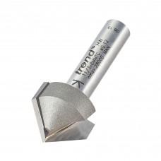 Chamfer V groove cutter 45 degrees - shank 8 mm