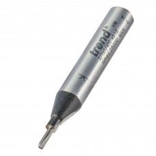 Single flute cutter 1.6mm diameter - shank 1/4