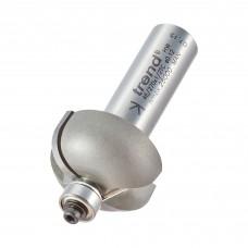 Bearing guided cove cutter 9.5mm radius - shank 1/2