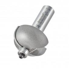 Bearing guided cove cutter 12.7mm radius - shank 1/2