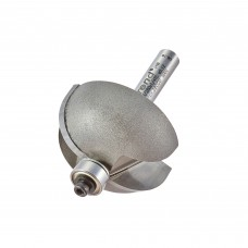 Bearing guided cove cutter 12.7mm radius - shank 1/4
