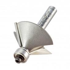Bearing guided chamfer cutter 45 degrees - shank 1/4