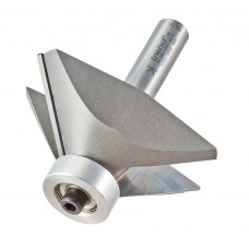 Bearing guided chamfer cutter 45 degrees - shank 1/2