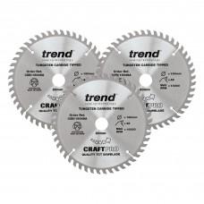160mm diameter Craft saw blade triple pack