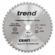 Craft saw blade crosscut 305mm x 48 teeth x 30mm