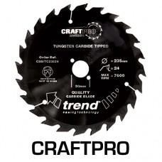 Craft saw blade 250mm x 60 teeth x 30mm