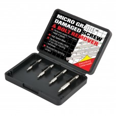 Trend Grabit Screw Extractor Set - 4 piece set for removing damaged screws and bolts from 3mm to 6mm diameter