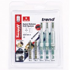 Snappy drill bit guide 5pc set