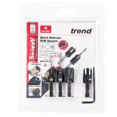 Trend Snappy 4 Piece Set Countersink & Plug cutter Set