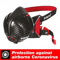 Stealth respirator mask. Medium/Large size half mask with twin P3 rated filters.