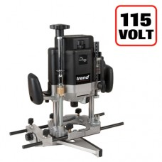 Trend T11 110volt 1/2in collet Router - powerful 2000 watt motor and user friendly adjustments for high end performance in hand held work and additional features for table work