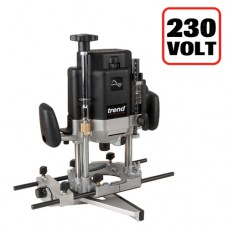 Trend T11 230volt 1/2in collet Router - powerful 2000 watt motor and user friendly adjustments for high end performance in hand held work and additional features for table work